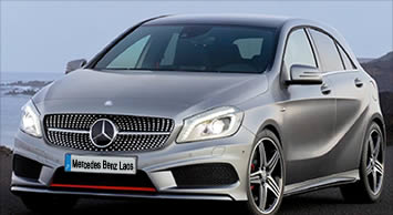The New 2013 A Class Mercedes Benz in metallic sliver