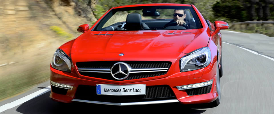 Red Mercedes Benz SL 63 AMG